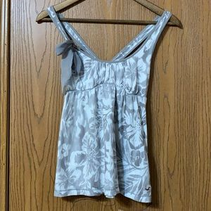 Gray Floral Hollister Tank, Small